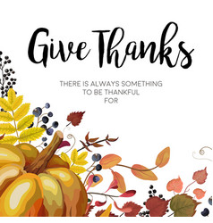 happy thanksgiving greeting card postcard design vector image vector image