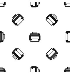 modern laser printer pattern seamless black vector image