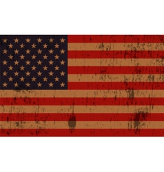 Old American Flag Grunge vector image vector image
