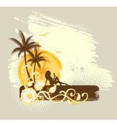 palms banner vector image