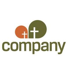 religion logo cross symbol vector image