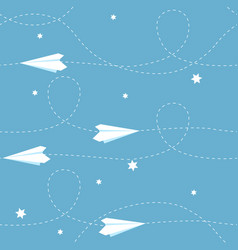 seamless paper airplane background vector image
