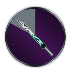 sword in progress frame vector image vector image
