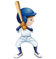 A young male baseball player vector image