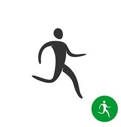 Running athlete man logo Black silhouette human vector image vector image