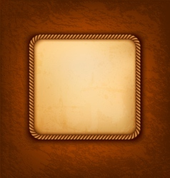 Vintage background with old paper and brown vector image vector image