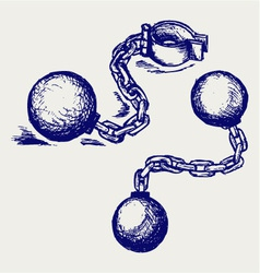 Wrecking ball and chain vector image vector image