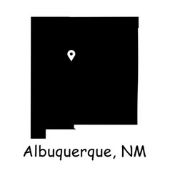 1304 albuquerque nm on new mexico state map vector
