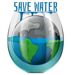 A save water concept vector