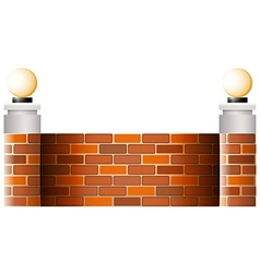 A wall with lampshades vector