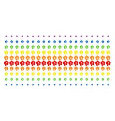 amoeba shape halftone spectral grid vector image