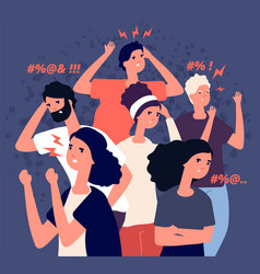 angry people groupe communication problem vector image