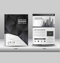 annual report brochure flyer template business vector image
