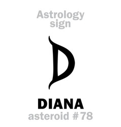 astrology asteroid diana vector image