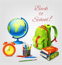 Back to school design concept vector