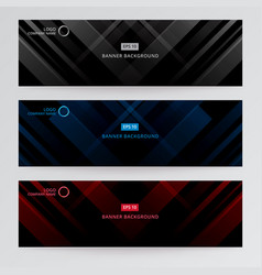 Banner web template abstract black gray blue vector