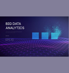 Big data business intelligence technology vector