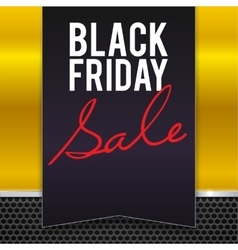 Black Friday sale large banner pennant flag vector image