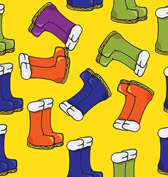 boots pattern vector image