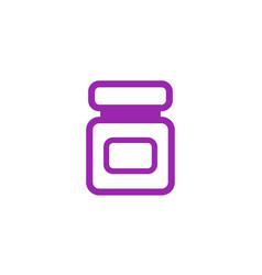 Bottle of medicine icon vector