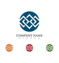 business corporate abstract unity logo design vector image