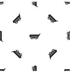 car trailer pattern seamless black vector image