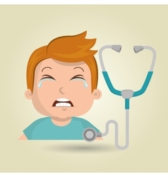 Child crying fear medicine vector