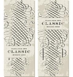 Classic Victorian fancy elements vector