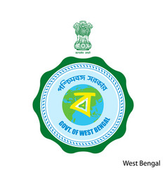Coat arms west bengal is a indian region vector