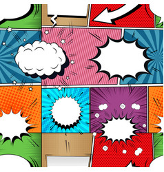 Comic book seamless pattern vector