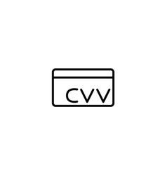 credit card cvv icon vector image