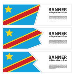 Democratic republic congo flag banners vector