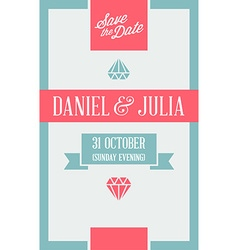 Design Awesome Wedding Invitation Template Ideal vector