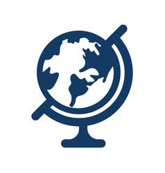 Desk globe icon globe icon vector