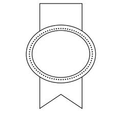 Elegant badge isolated icon design vector