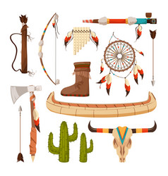 ethnic and tribal elements and symbols american vector image