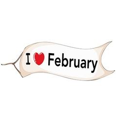 February vector image