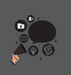 flat design business concept vector image
