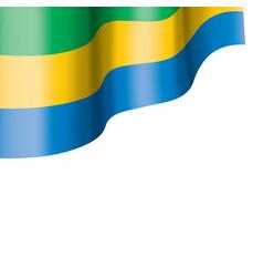 gabon flag on a white vector image
