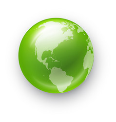 Globe realistic icon vector