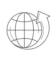 Globe with latitudes line icon vector