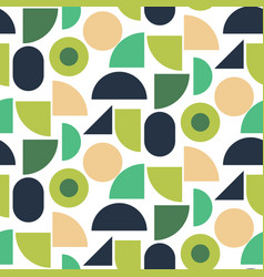 green geometric shapes seamless pattern vector image