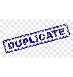 Grunge duplicate rectangle stamp vector