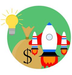 Idea of a business start-up vector