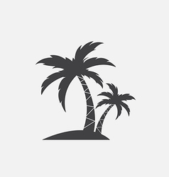 image an palm tropical tree icon vector image