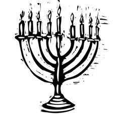 Jewish menorah vector