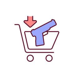 Legal gun purchase rgb color icon vector