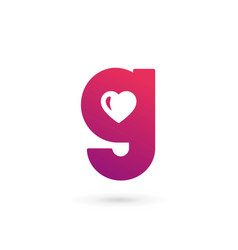 Letter g heart logo icon design template elements vector