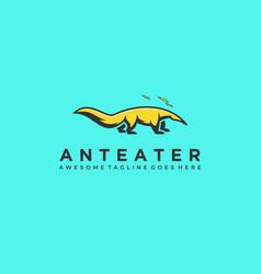 Logo anteater mascot cartoon vector
