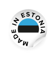 made in estonia sticker tag vector image